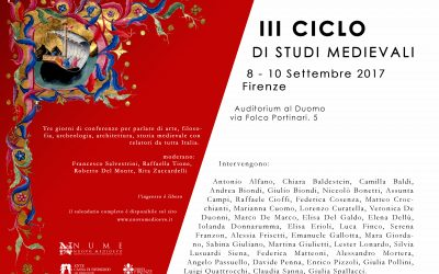 III CICLO DI STUDI MEDIEVALI, CALENDARIO