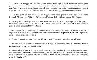 II CICLO DI STUDI MEDIEVALI IN PALAZZO BIFFI TOLOMEI