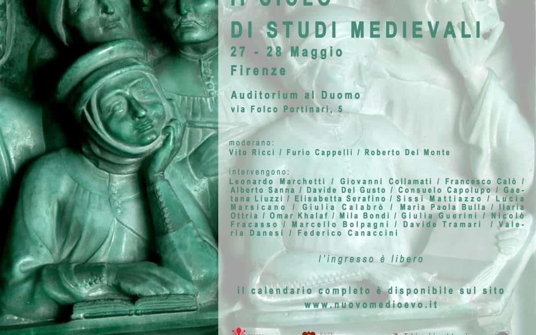 """""""II CICLO DI STUDI MEDIEVALI"""", CALENDARIO DELLE CONFERENZE"""