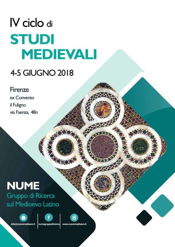 IV Ciclo di Studi Medievali 2018, Programma