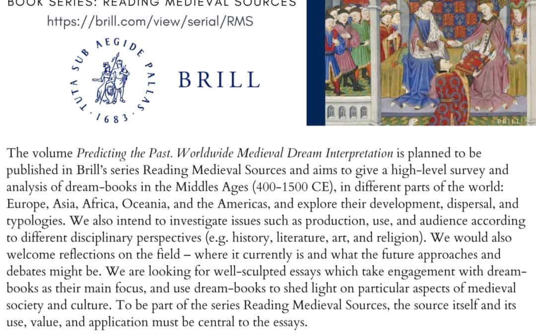 "CFP: ""PREDICTING THE PAST. WORLDWIDE MEDIEVAL DREAM INTERPRETATION"""