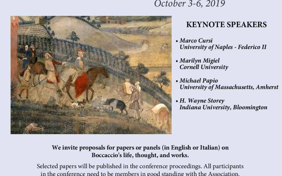 BOCCACCIO'S LEGACY PHILOLOGY AND HERMENEUTICS | CFP