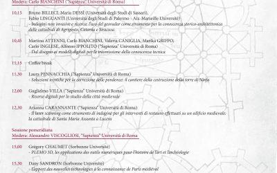 VOIR L'INVISIBLE: L'IMAGERIE NUMÉRIQUE POUR L'ÉTUDE DE L'ARCHITECTURE MÉDIÉVALE ENTRE LA FRANCE ET L'ITALIE